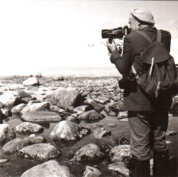 А.В. Пудов – фотограф, орнитолог. 1980-е годы.