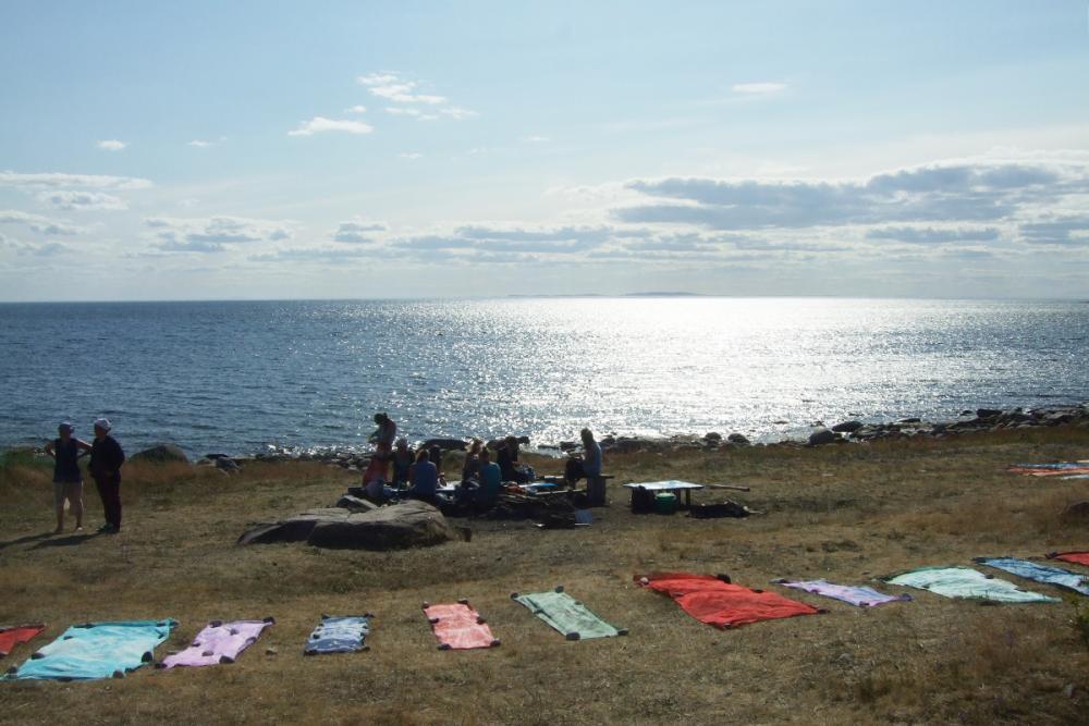 На берегу Белого моря (фрагмент выставки «Ткани моря»)