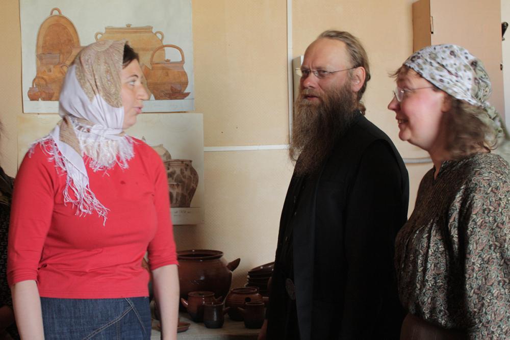 Отец Порфирий с руководителями практики