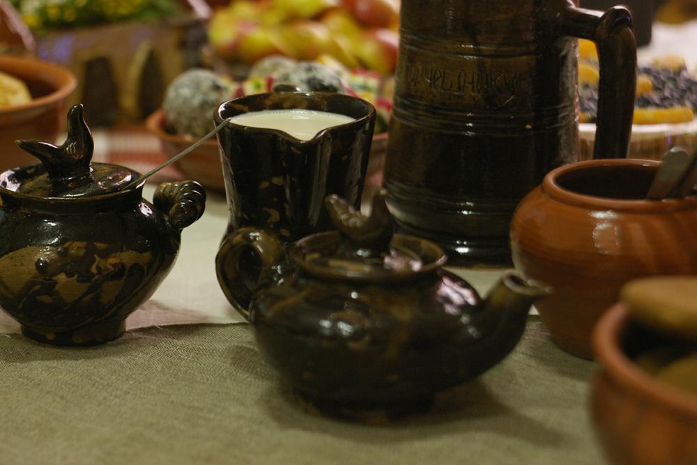 Набор чайной посуды «Соловецкий». Работа студентов УдГУ