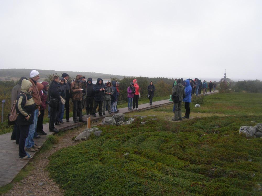 Участники конференции на экскурсии – полевом семинаре