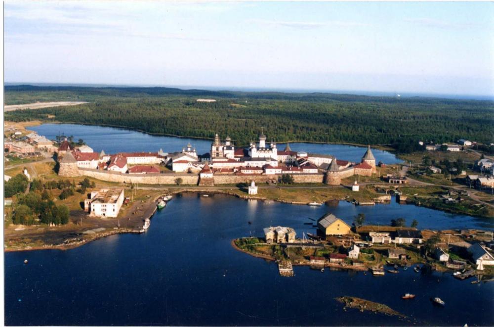 Соловецкий монастырь. Вид с западной стороны