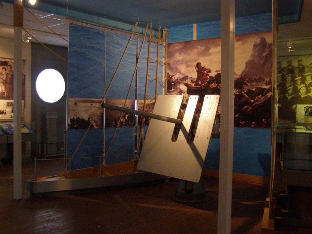 Выставка «Соловецкая школа юнг ВМФ. 1942-1945 гг.». Фрагмент.