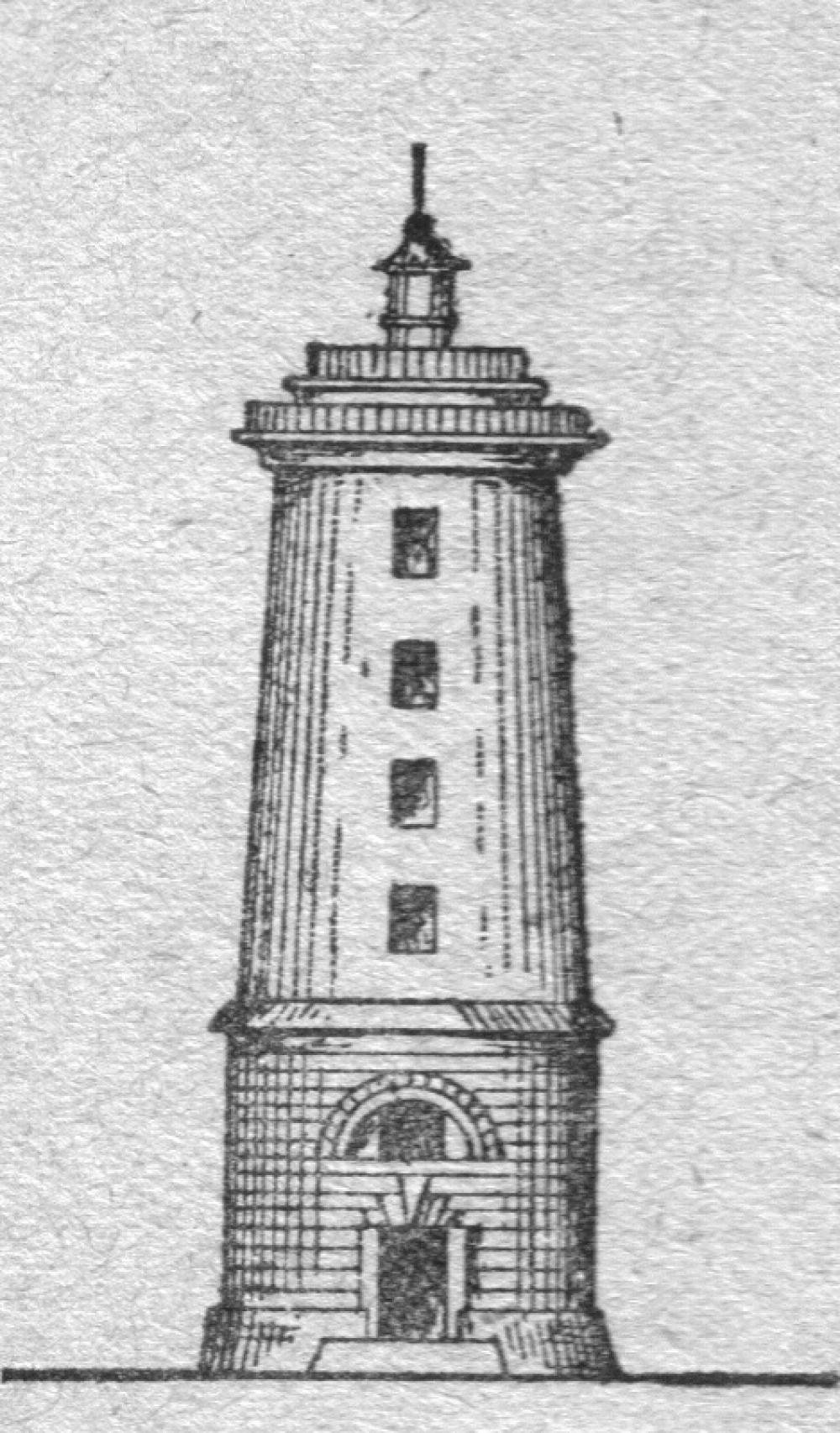 Чертёж маяка на острове Мудьюг. Источник фото: https://ekb.aonb.ru/index.php?id=2992.