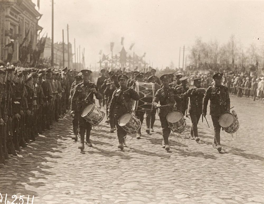Встреча британских и американских войск в Архангельске