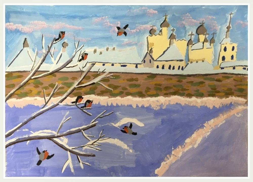 Монахова Е.Д. 9 лет. Зима. Соловки.
