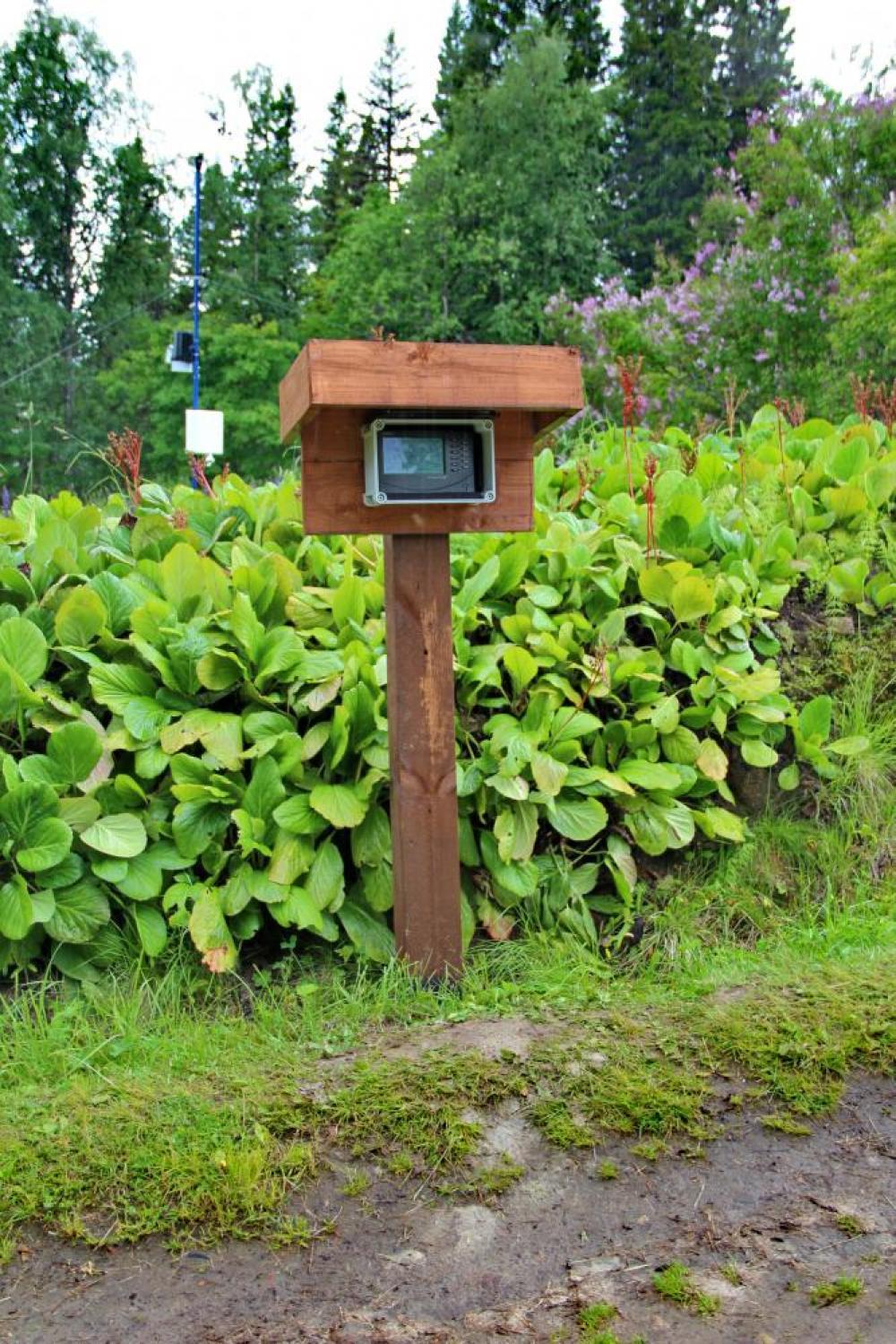 Консоль метеостанции в Ботаническом саду