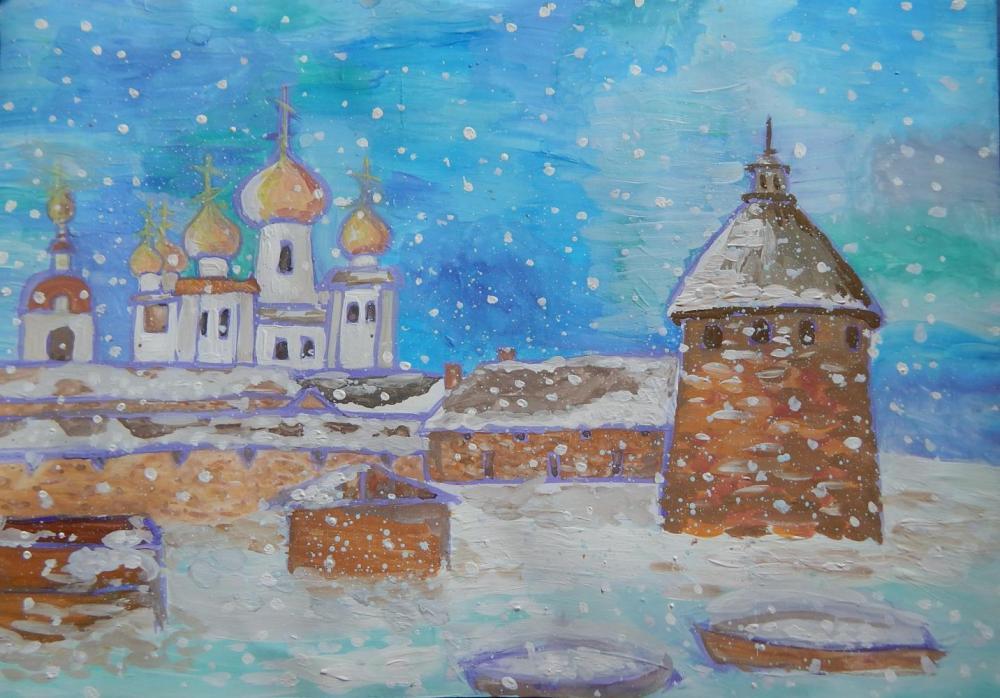 Ковалёва О.К. 7 лет. Зимний сон Соловков.