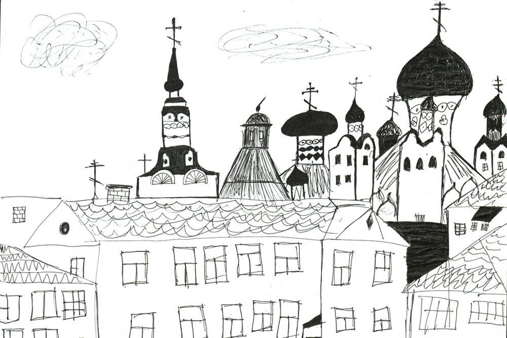 Соловецкие крыши. Парадеева Алина, 11 лет