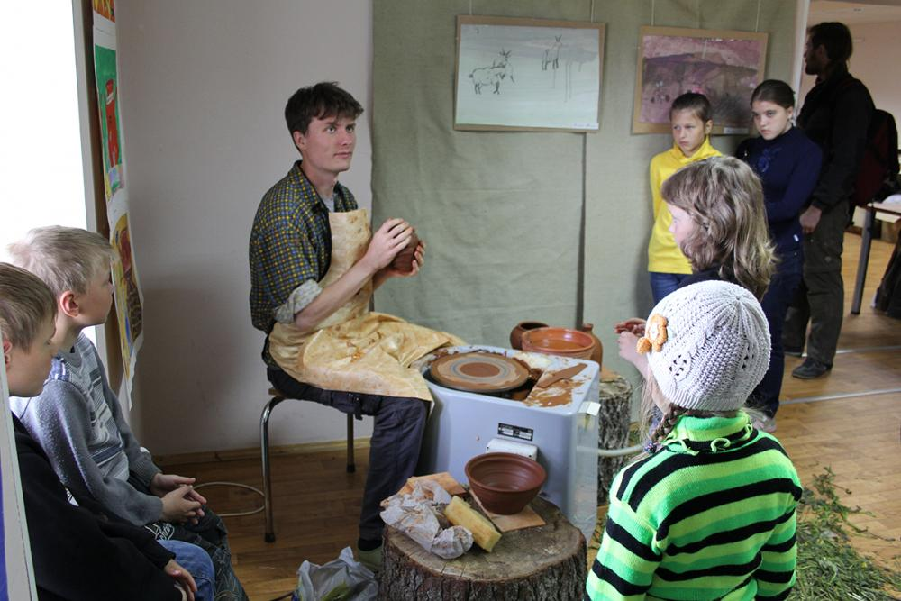 Мастер-класс по гончарному делу на выставке Константина Чиркова