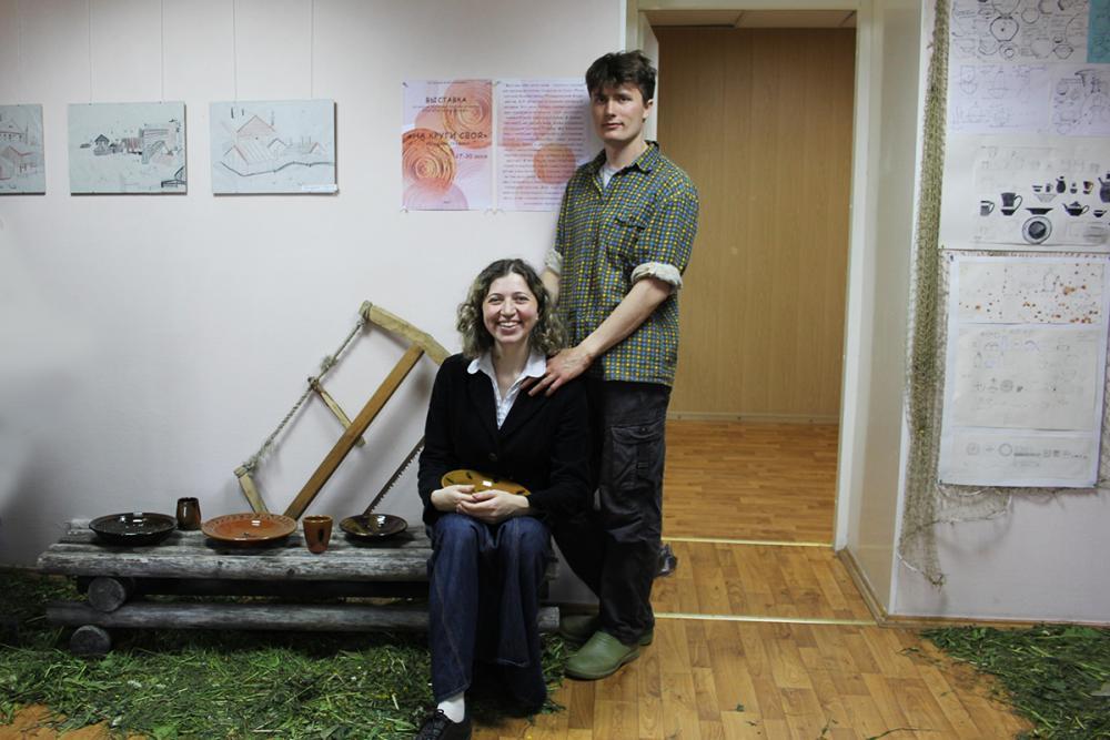 Авторы выставочного интерьера – Константин и Юлия Чирковы