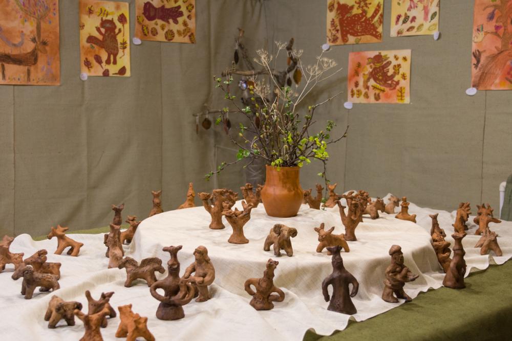Детские каргопольские игрушки на выставке