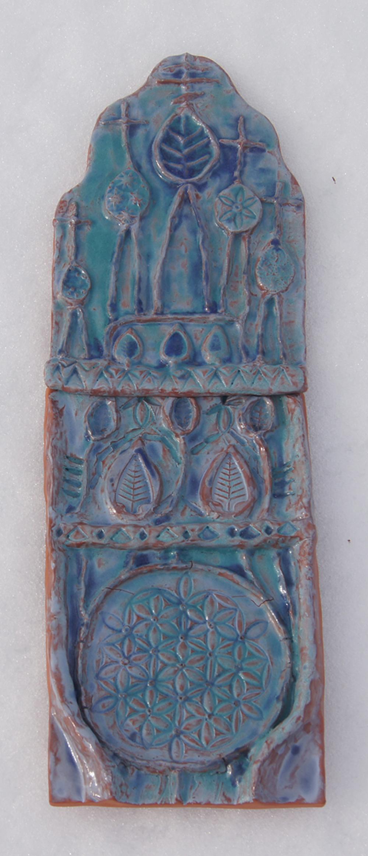 Полихромный керамический рельеф. Автор – Магомедов Андрей, 10 лет