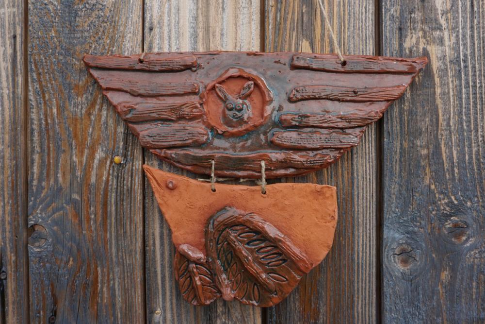 Керамическое панно из серии «Поморский ковчег». Панарина Даша, 7 лет
