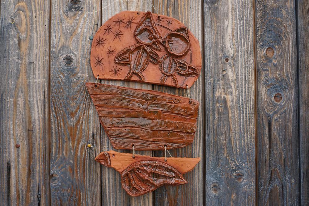 Керамическое панно из серии «Поморский ковчег». Максимов Игорь, 8 лет