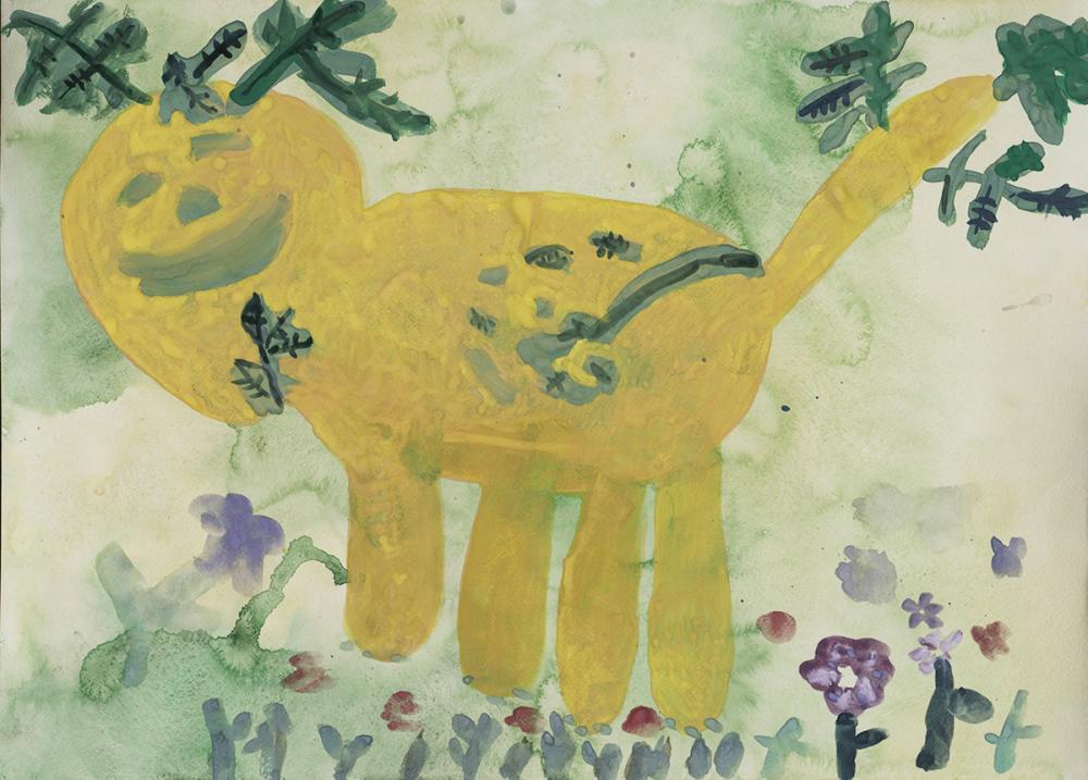 Работа из серии «Весенний лев». Носиков Миша, 7 лет