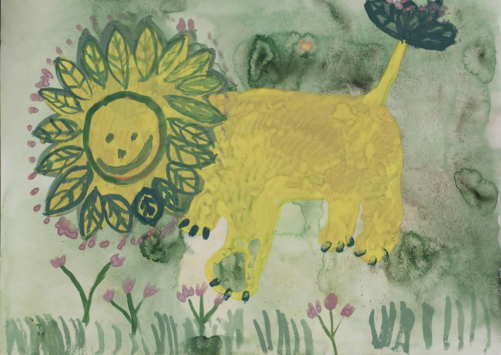 Работа из серии «Весенний лев». Лялина Ульяна, 8 лет