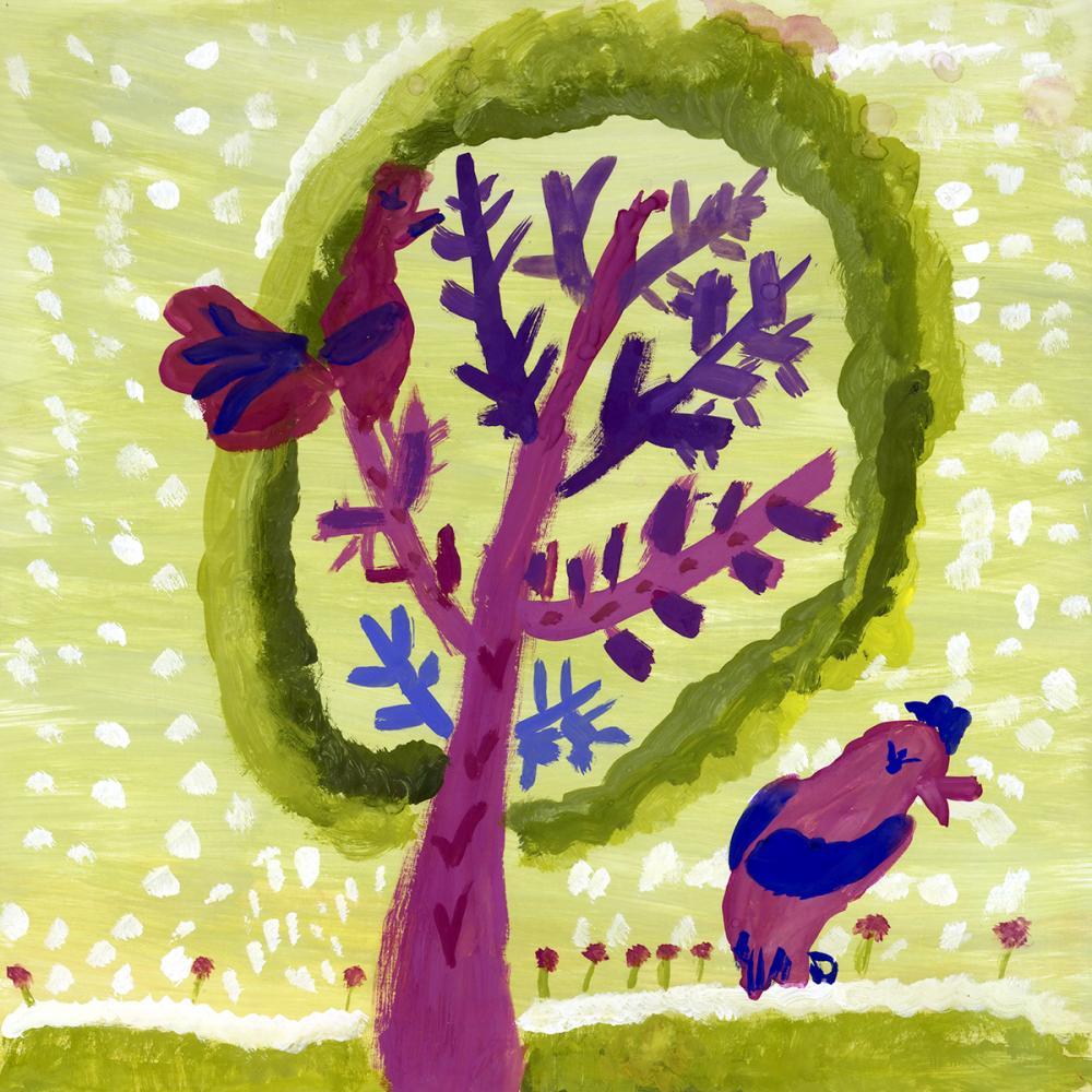 Работа из серии «Чудо-дерево». Пудова Света, 8 лет
