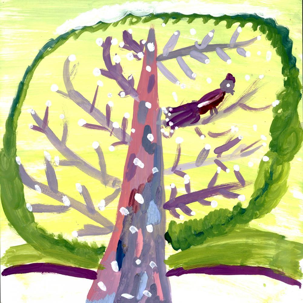 Работа из серии «Чудо-дерево». Бобкова Даша, 8 лет