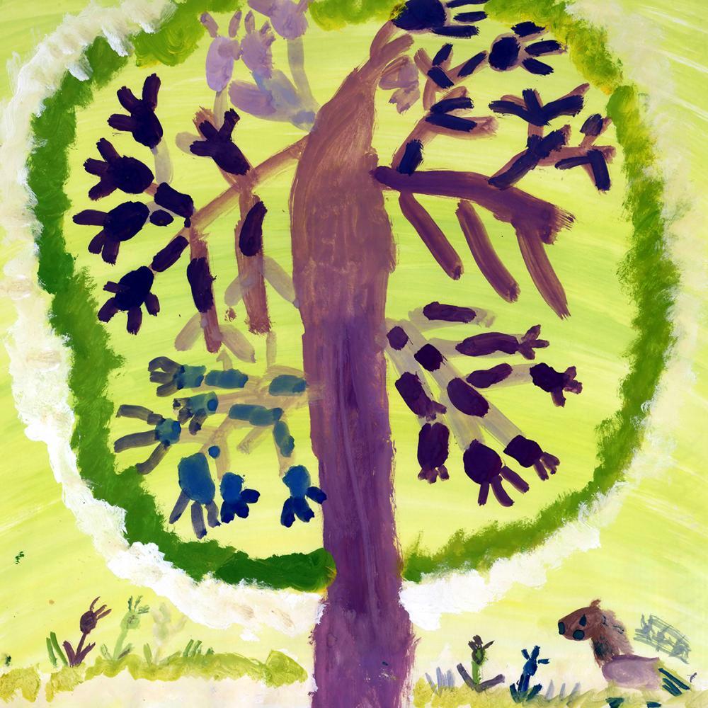 Работа из серии «Чудо-дерево». Глаголева Кася, 6 лет