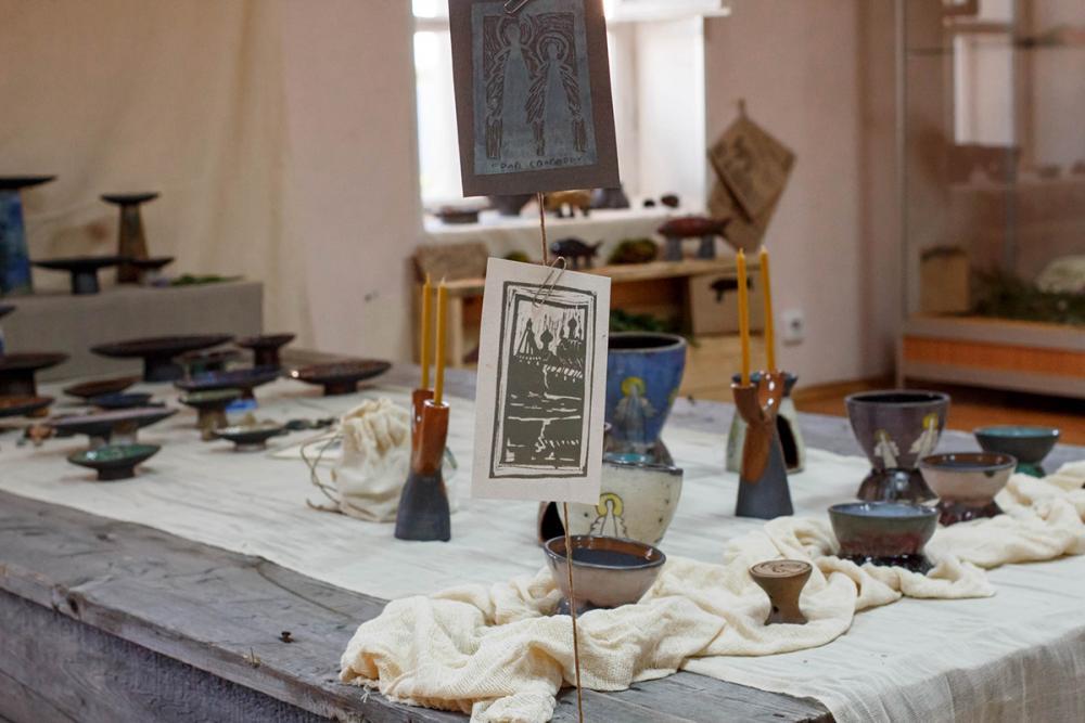 Набор керамики «Град Соловецк». Автор – Анастасия Любич (УдГУ)
